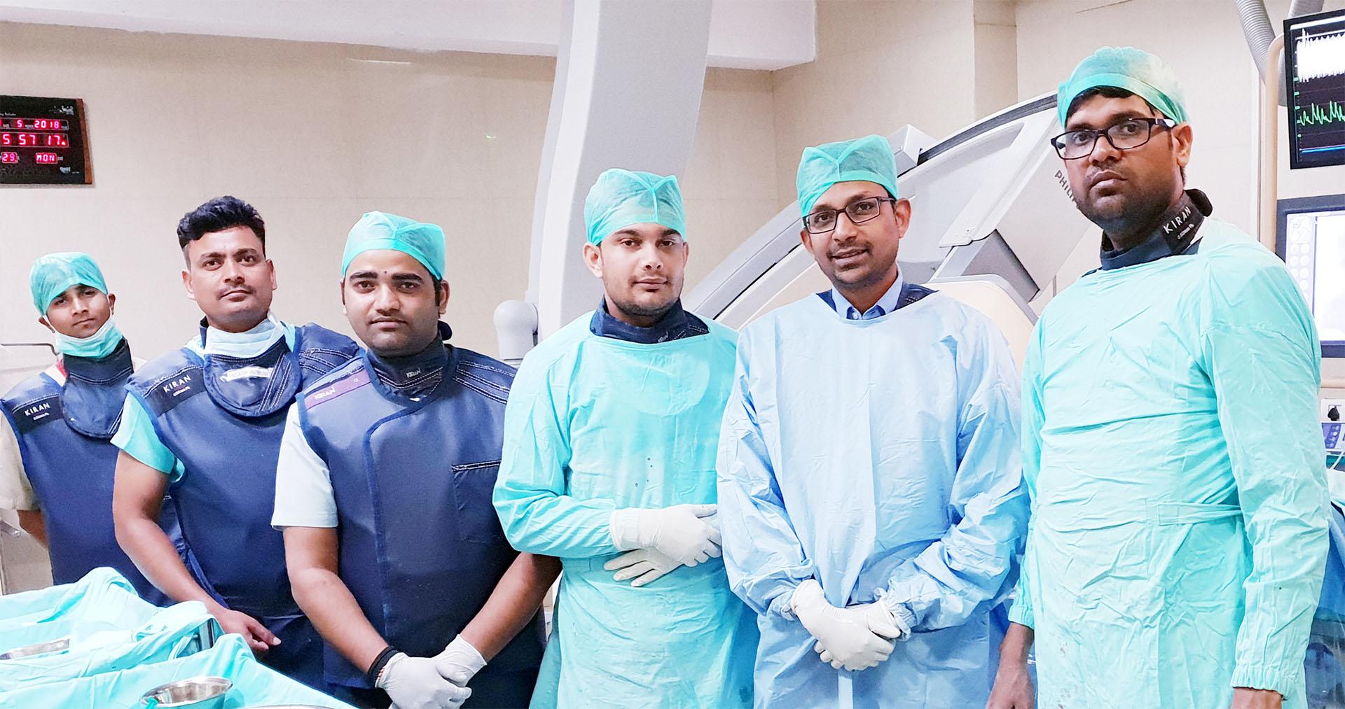 Dr. Gautam Swaroop with Team