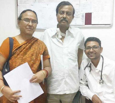 DR. Gautam With Patient
